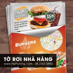 In tờ rơi giá rẻ tại Hồ Chí Minh - Tờ rơi nhà hàng giá rẻ