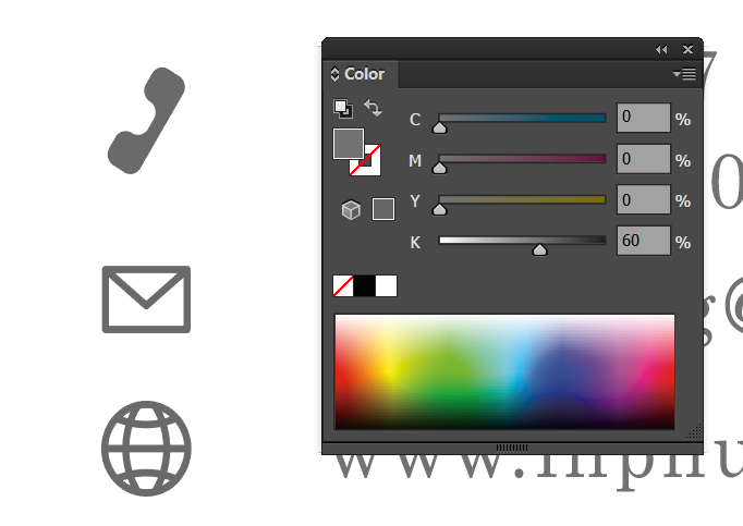 Màu text / icon từ 1 - 3 màu